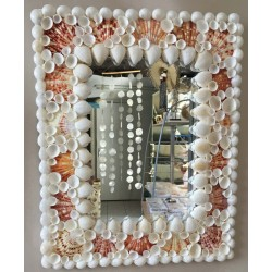Miroir Rectangle Coquillages pecten & moonshell 30X38CM par 1