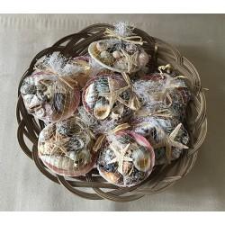 Codakia filled with seashells, Filet - Knot