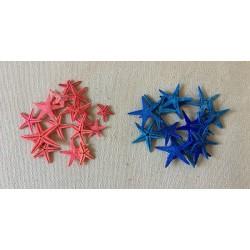 Etoile de Mer 1/3cm  Bleue ou Rouge paquet de 100