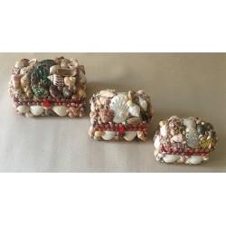 Coffret bijoux Coquillages moyen modèle 10x7cm par 12