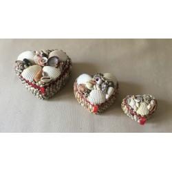 Coffret à bijoux coeur petit modèle 6/7cm lot de 12