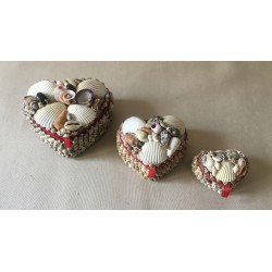 Small style heart jewelry box 6/7cm lot of 12