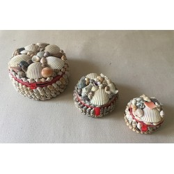 Jewelry box Round form small model 6/7cm lot of 12
