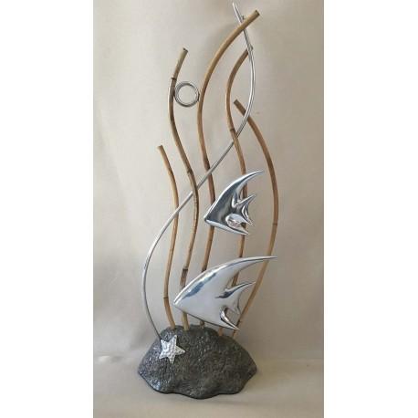 Deco - Pierre Bamboo Marin Fund - Alu 20x45cm