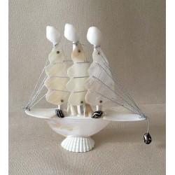Boat 3 Nacré Sails 12.5x12cm by 6