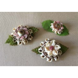 Flower Shells Deco Table lot of 12
