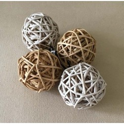 Rattan ball 5cm lot of 12