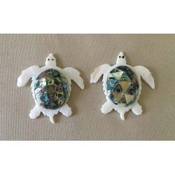 Turtle to Lay Mother-in-Pearl - Abalone Back lot of 6