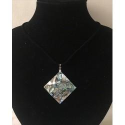 Abalone Paua pendant on Cordon lot of 6