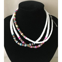 2548 NECKLACE PUKASHELL AND COOC PEARL per 24