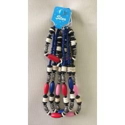 Parure Collier Bracelet Grosses Perles lot de 24