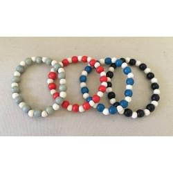 Bracelet Perles Bois lot de 24