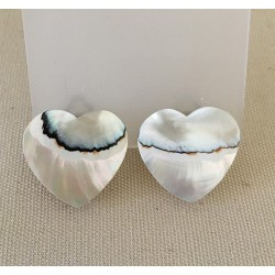 Clip Heart Nautile Earrings Batch of 6