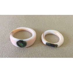Luhuanus Ring with Abalone Inlaid (lot of 36)
