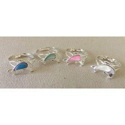 Adjustable Dolphin Ring lot of 36