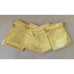 Pochette dorée 7x8cm par 25