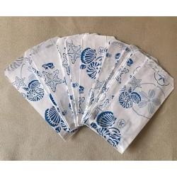 Pochette Cadeau Papier Coquillages 8x16cm lot de 1000