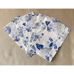 Pochette Cadeau Papier Coquillages 12x4.5x21cm lot de 1000