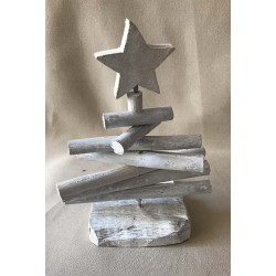 Christmas tree bleached driftwood 30cm by 6