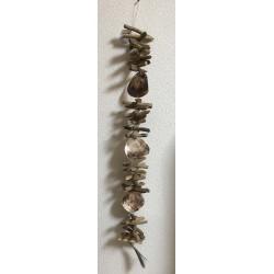 Guirlande bois flotté naturel avec saddles shell 101.5cm par 3