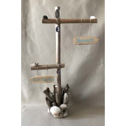 Directional panel natural driftwood 46cm by 3
