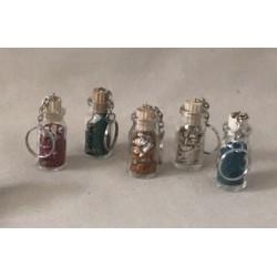 Porte clefs bouteille sable couleurs assorties par 24
