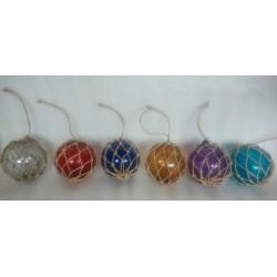 Diam color glass ball. 12cm by 6