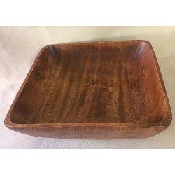 Wooden square bowl 25x25x7cm by 1