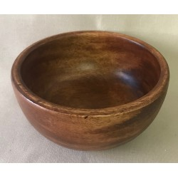 Round wooden bowl dia 16cm x H 8cm by 2