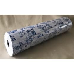 Bobine de comptoir papier couché blanc/coq bleu 0.70x300m par 1