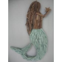 Sirene 2 couleurs bois flotté 71 cm par 1