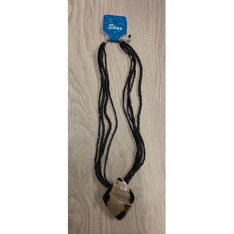 Collier pendentif ptéria losange par 6