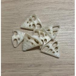 Pochette coeur de trocha mini 25/30mm 15 pièces par 3