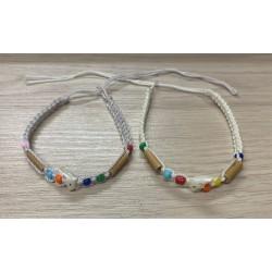 Bracelets macramé dauphin nacre assortis plaque de 50 par 1