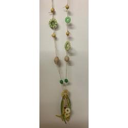 Sautoir corde & cuir 60cm couleurs assorties par 6