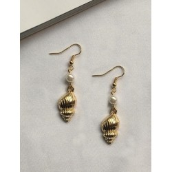 Gold Ear Shell/ Pearl By 12