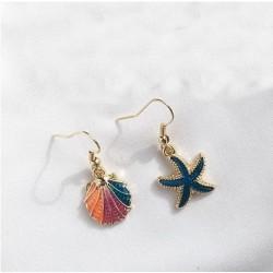 Gold Ear Sea Star Loop /Pecten Painted by 12