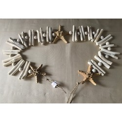 Wood Floated Garland Star 1.30m lot of 3