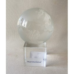 Crystal Globe on Base 78mm lot of 1