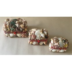 Box Jewelry Shell Small Model Chest 8cm lot of 24