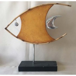 Deco - Bamboo Fish Stone - Alu on Base 50x52cm