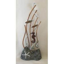 Deco - Pierre Bamboo Marin Fund - Alu 25x61cm