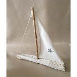 Boat Floated Wood 33cm lot of 6