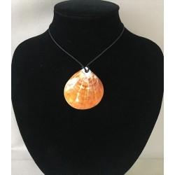 Orange Spondyle pendant on Cordon lot of 12