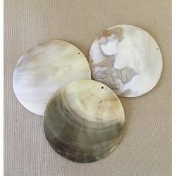 Nacre Shell pendant Perce 6cm lot of 12