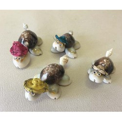Mini Turtle with Goggles - Hat lot of 50
