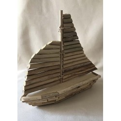 Boat natural driftwood 25x30cm by 3