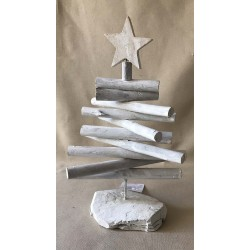Christmas tree bleached driftwood 50cm by 3