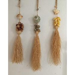 Braid shells - straw pompom by 6